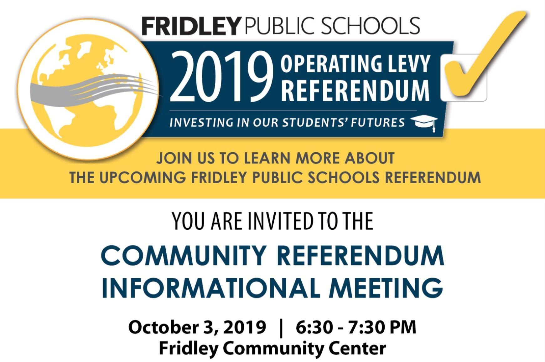 Community Referendum Informational Meeting