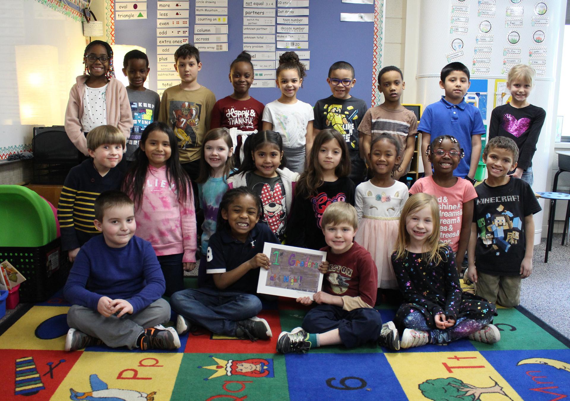 Stevenson Elementary 1st grade class publishes story book