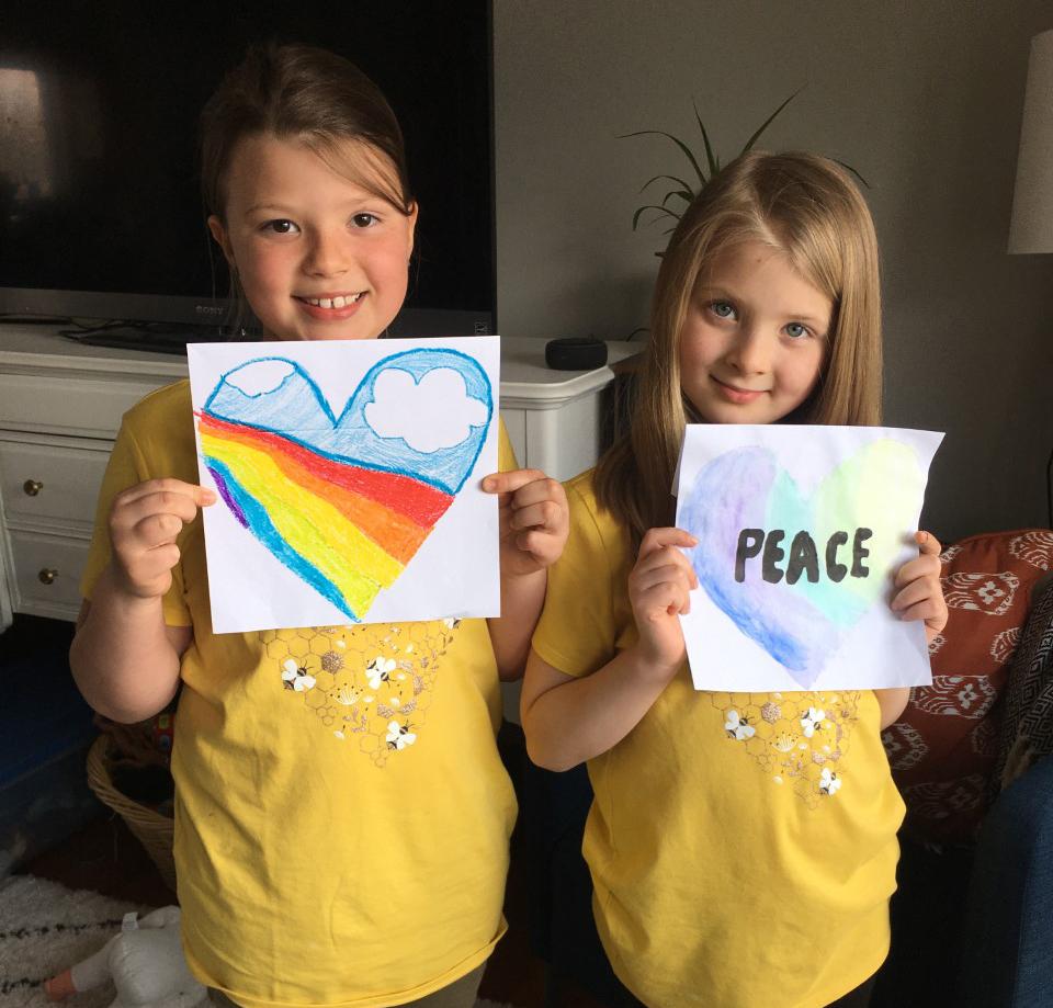 Clara - 3rd grade and EllaMae - 1st grade