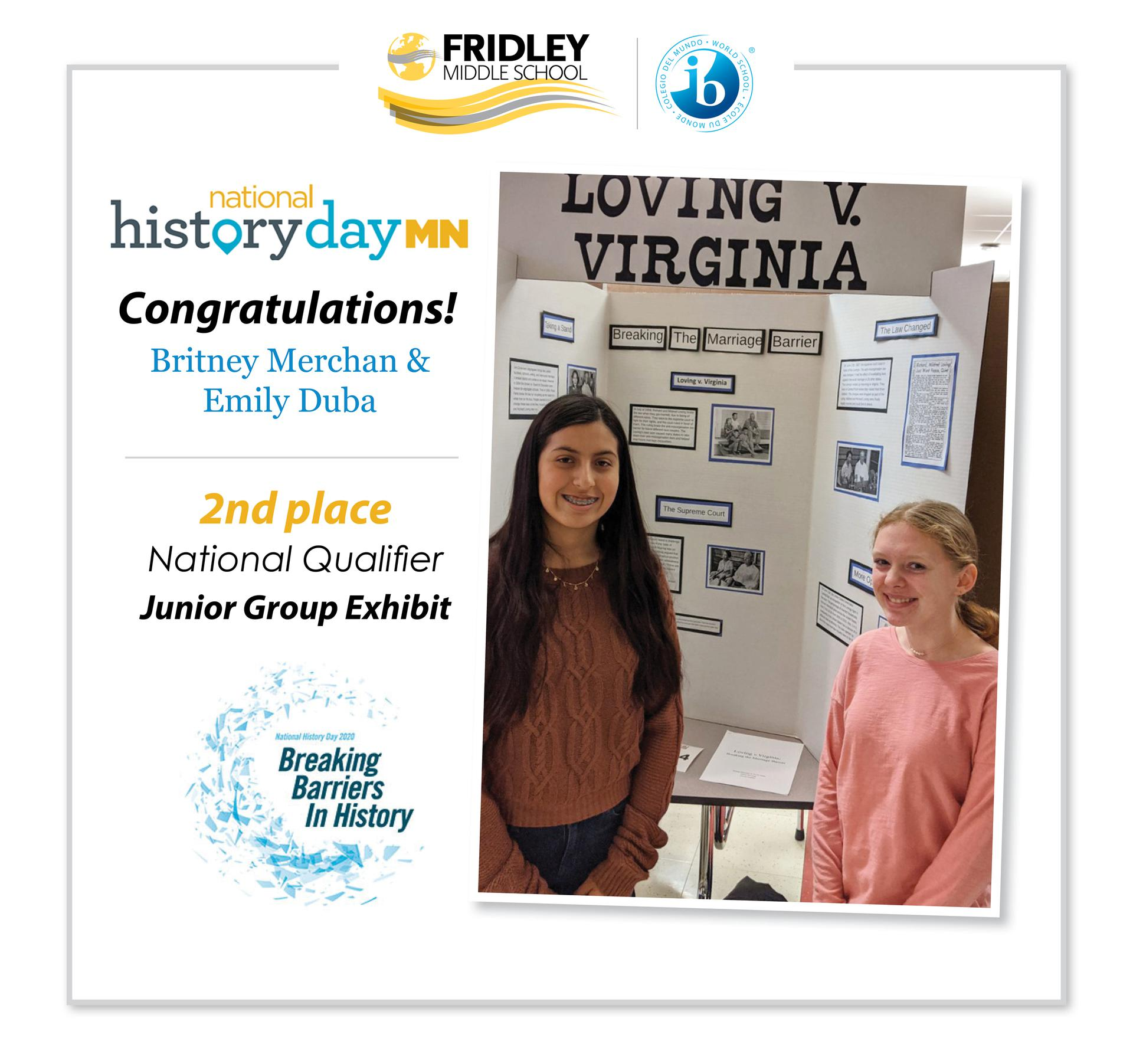 National History Day Winners!