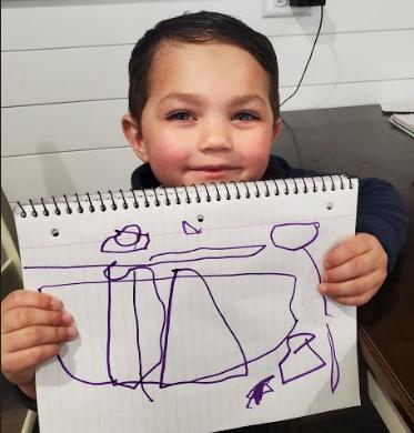 Eamon and the purple crayon