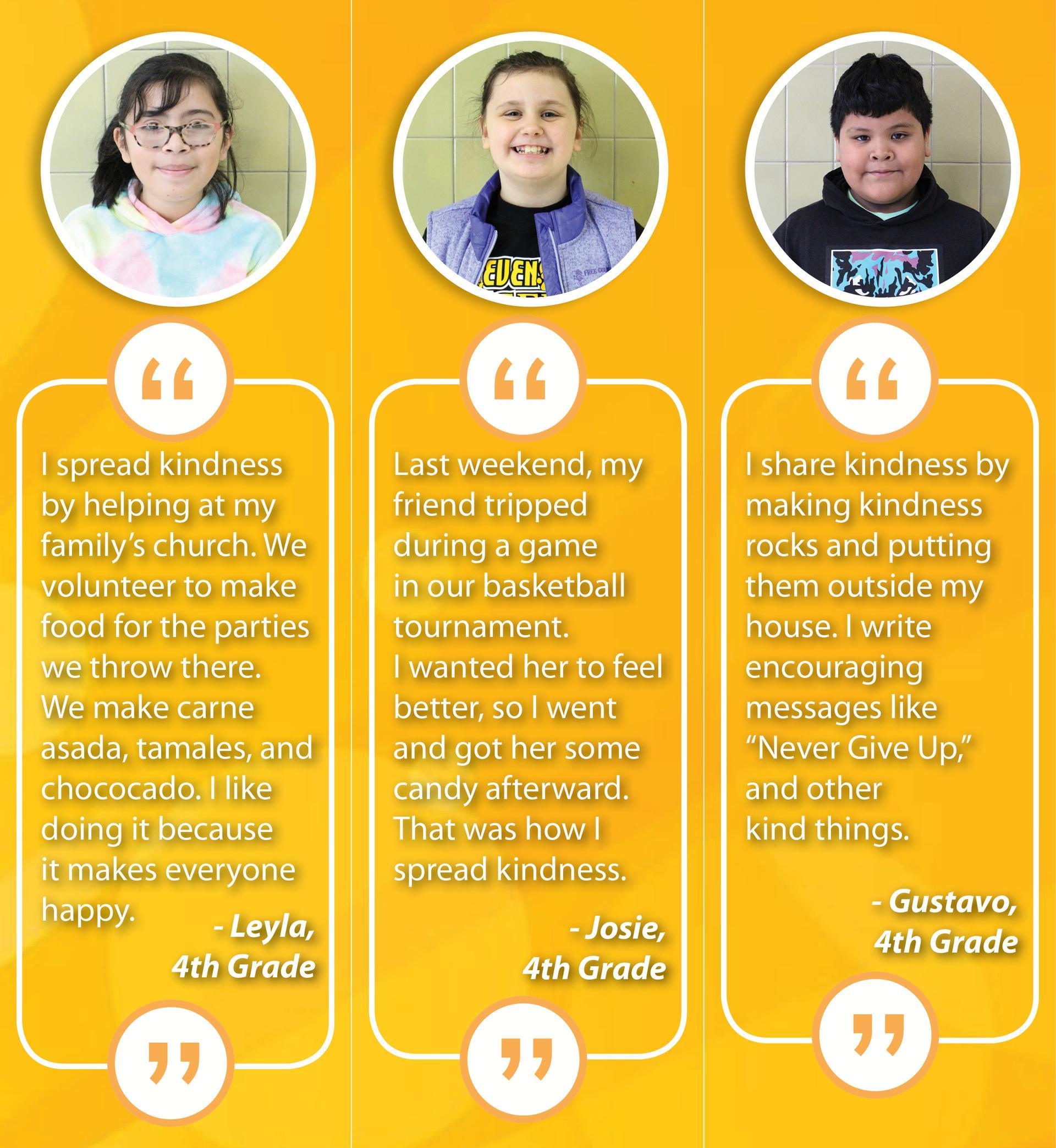 Stevenson student quotes - Speak Kindness