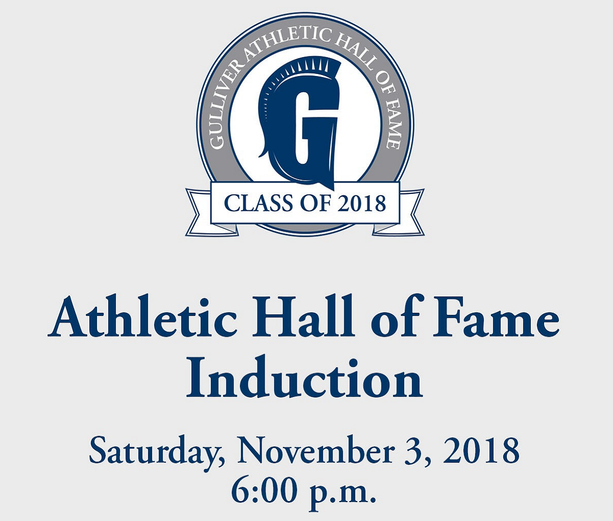 Athletic Hall of Fame Induction: Saturday, November 3, 6:00 p.m.