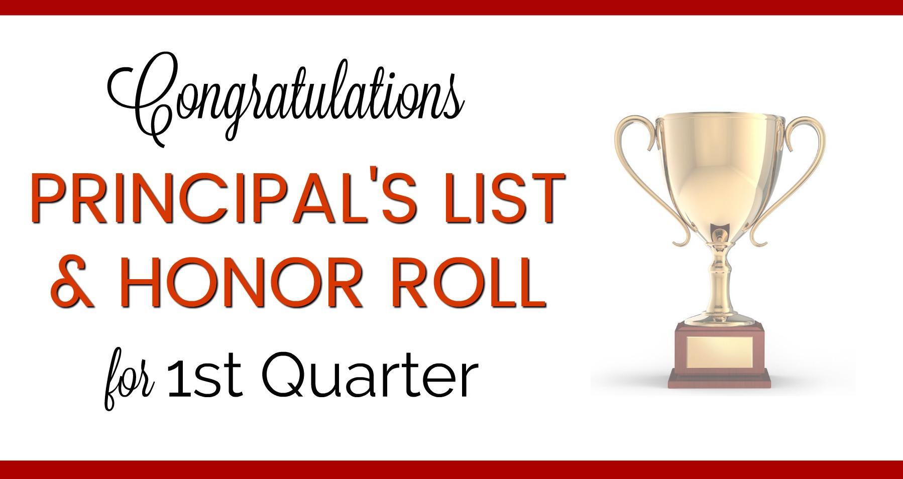Principal's List & Honor Roll