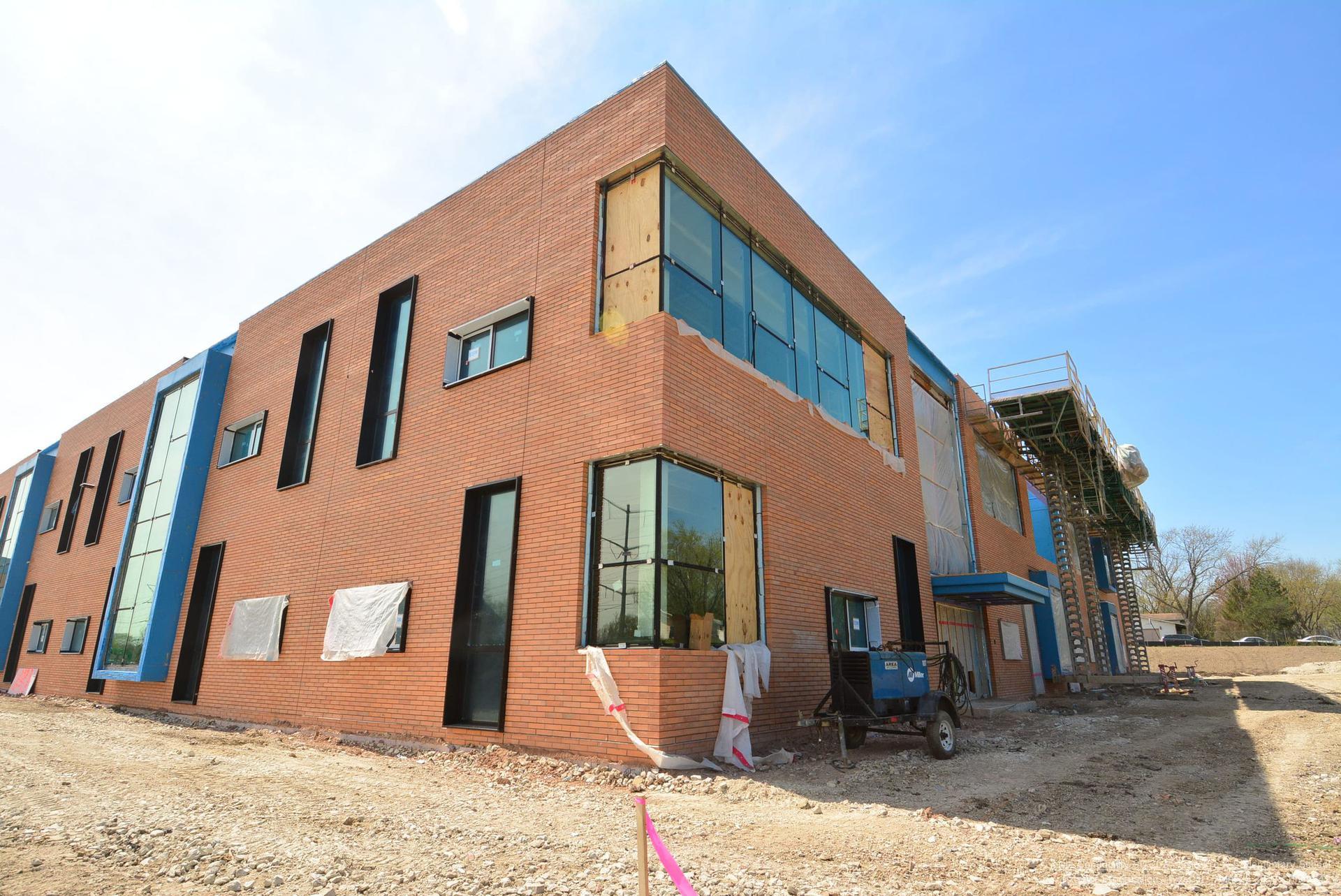 exterior construction progress - northeast corner