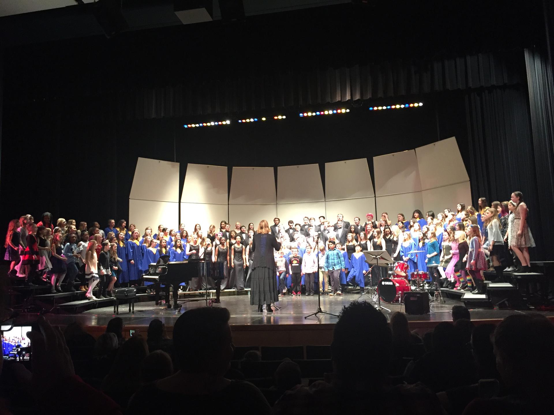 District Choral Students on Stage