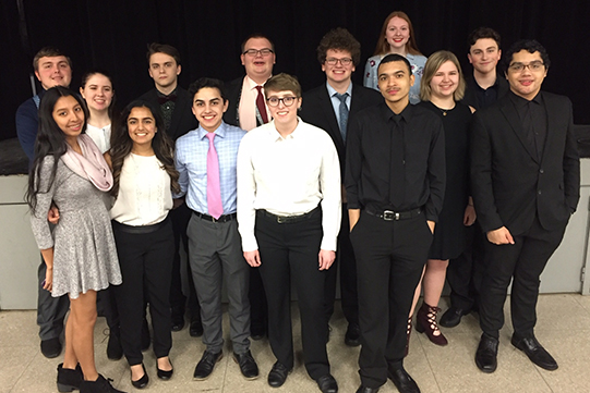 LHS Band students at I-8 Honor Band Festival