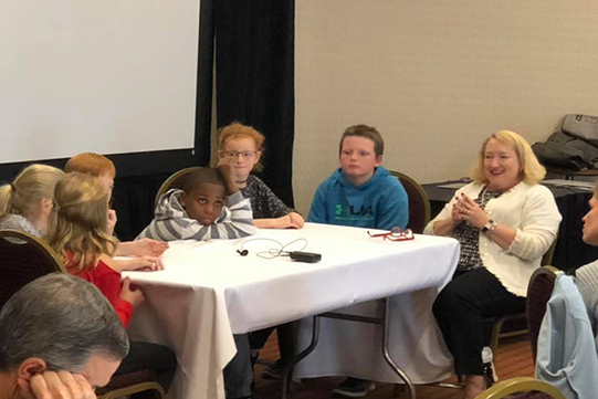 Third Graders at Heinemann conference