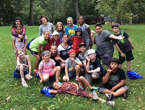 Fifth grade class at outdoor education