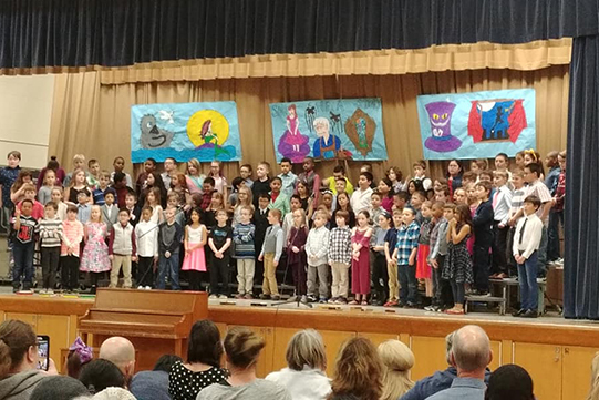 Third Graders on Stage