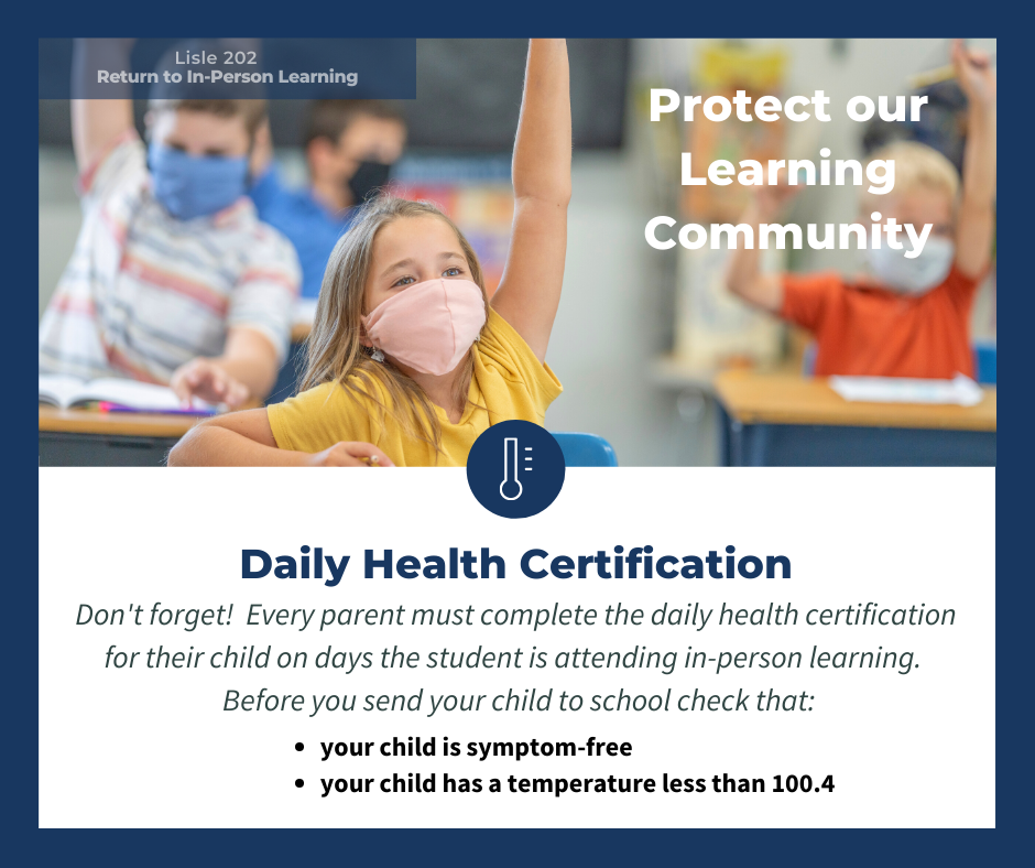 Daily Health Certification information
