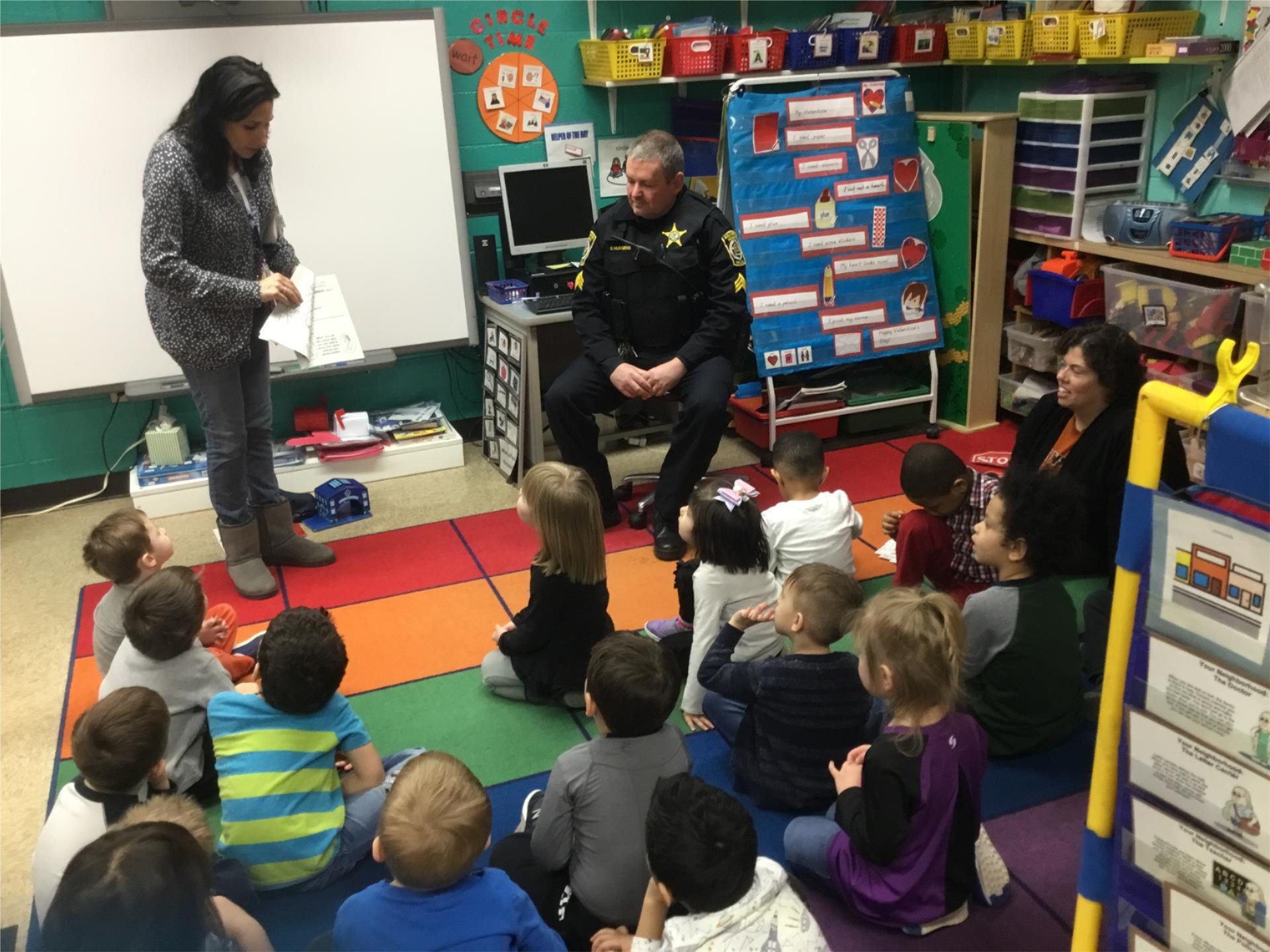 PreKindergarten with Police Officer