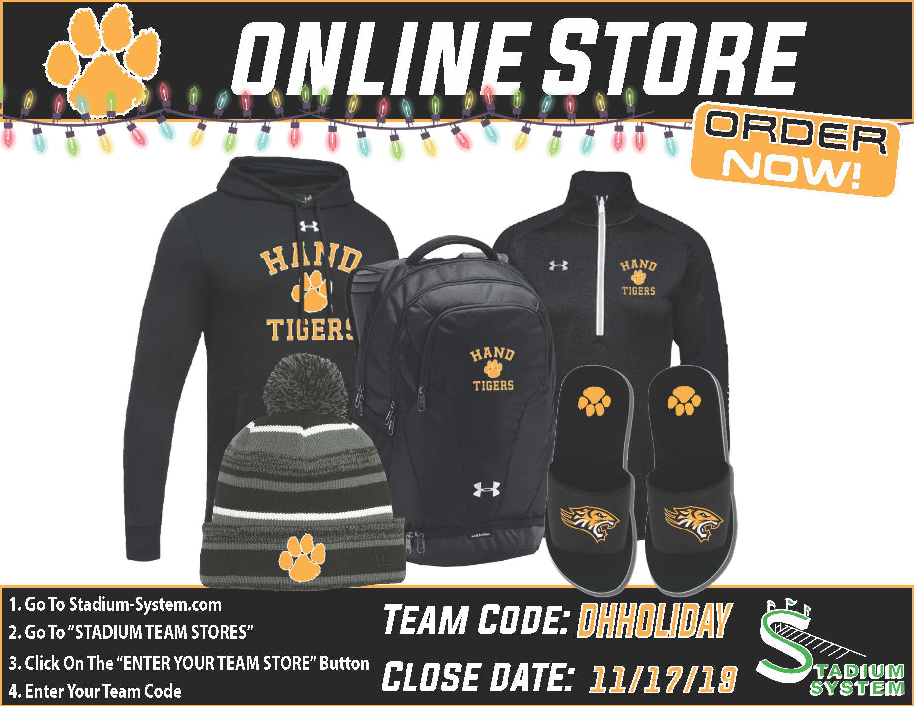 Online store for DHHS Apparel. Code DHHOLIDAY