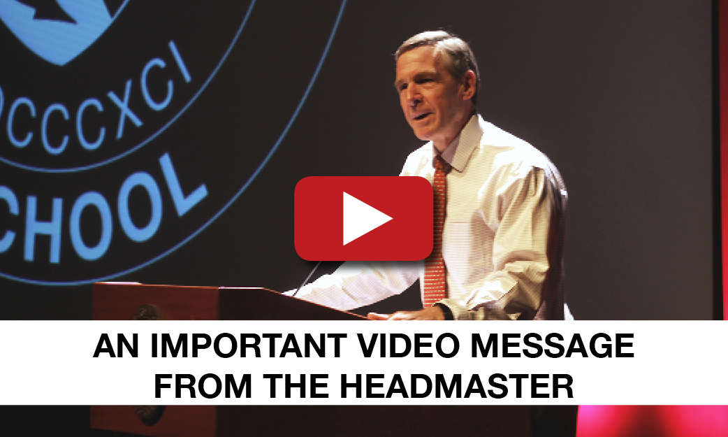 An important video message from the Headmaster
