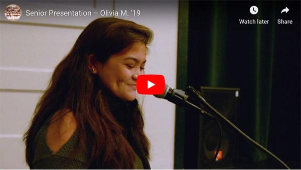 Senior Presentation  – Olivia '19