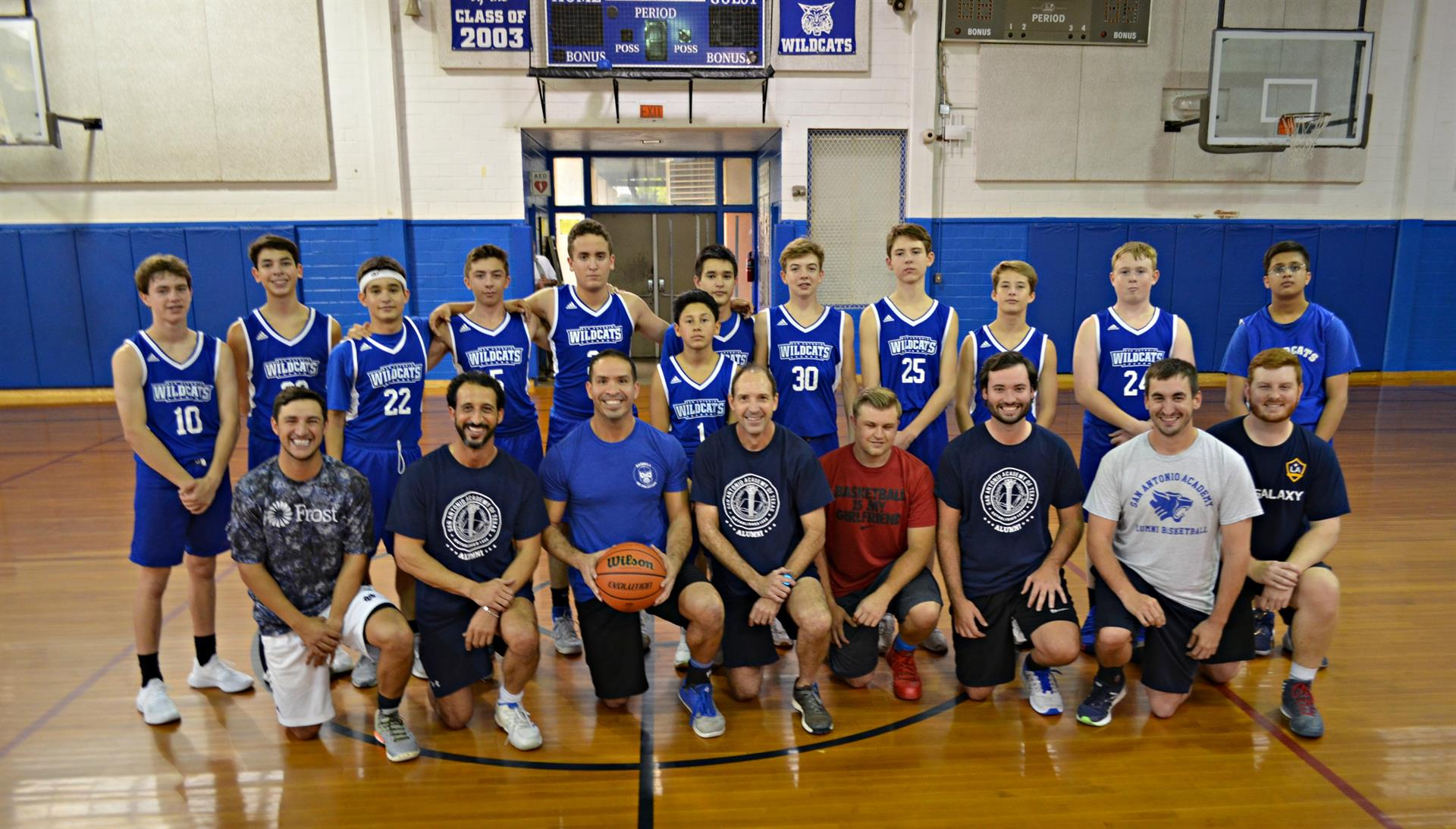 Alumni vs. 8th Grade Annual Basketball Game