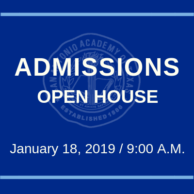 Open House is January 18, 2019