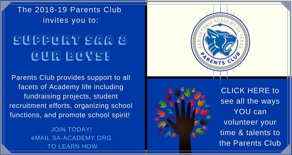 Parents Club Needs YOU!