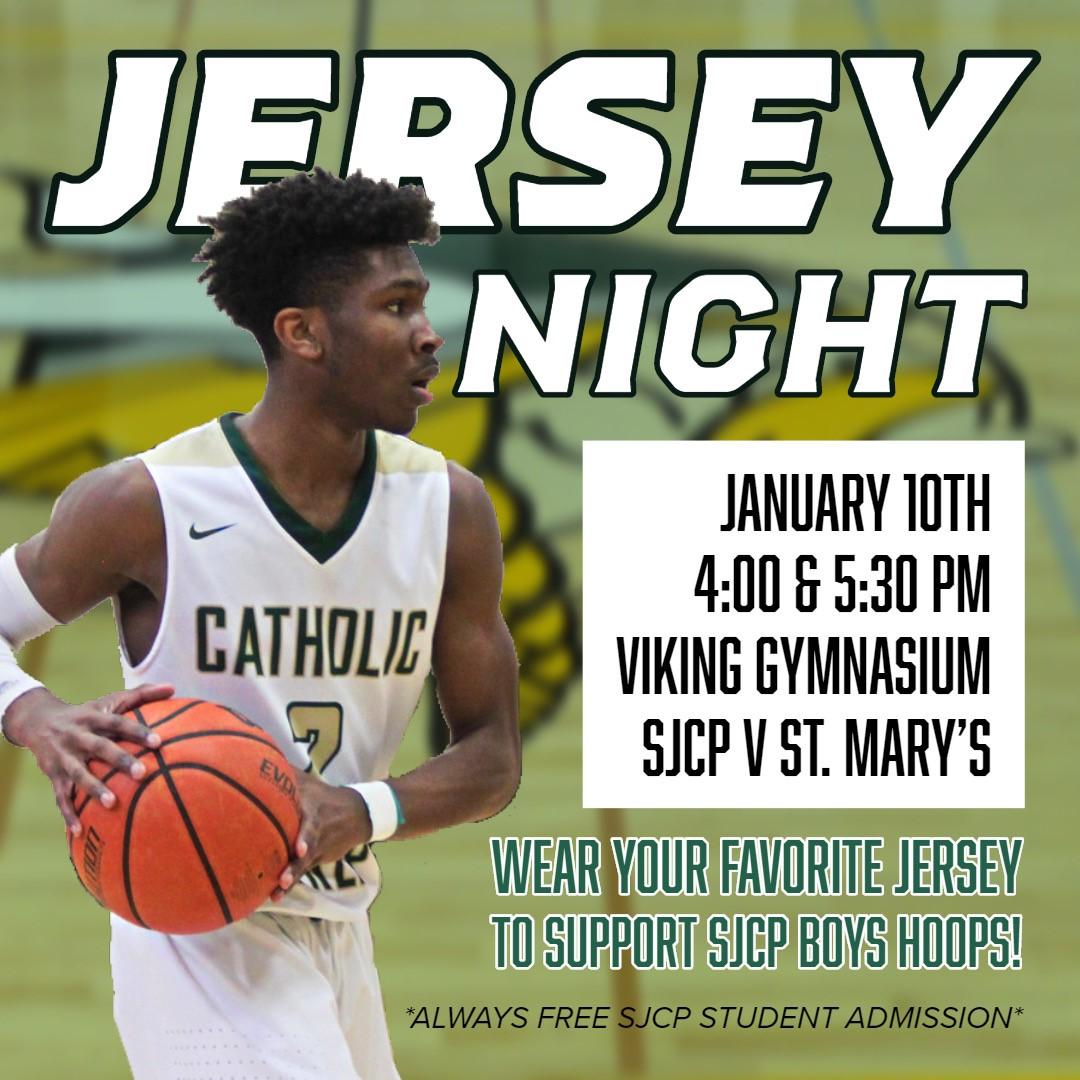 Jersey Night at SJCP January 10, 2020