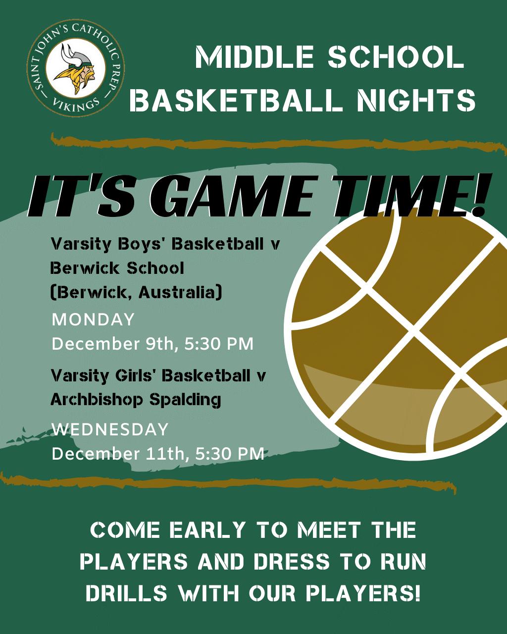 Middle School Basketball Nights
