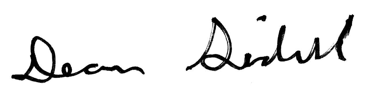 Dean Sidell, signature