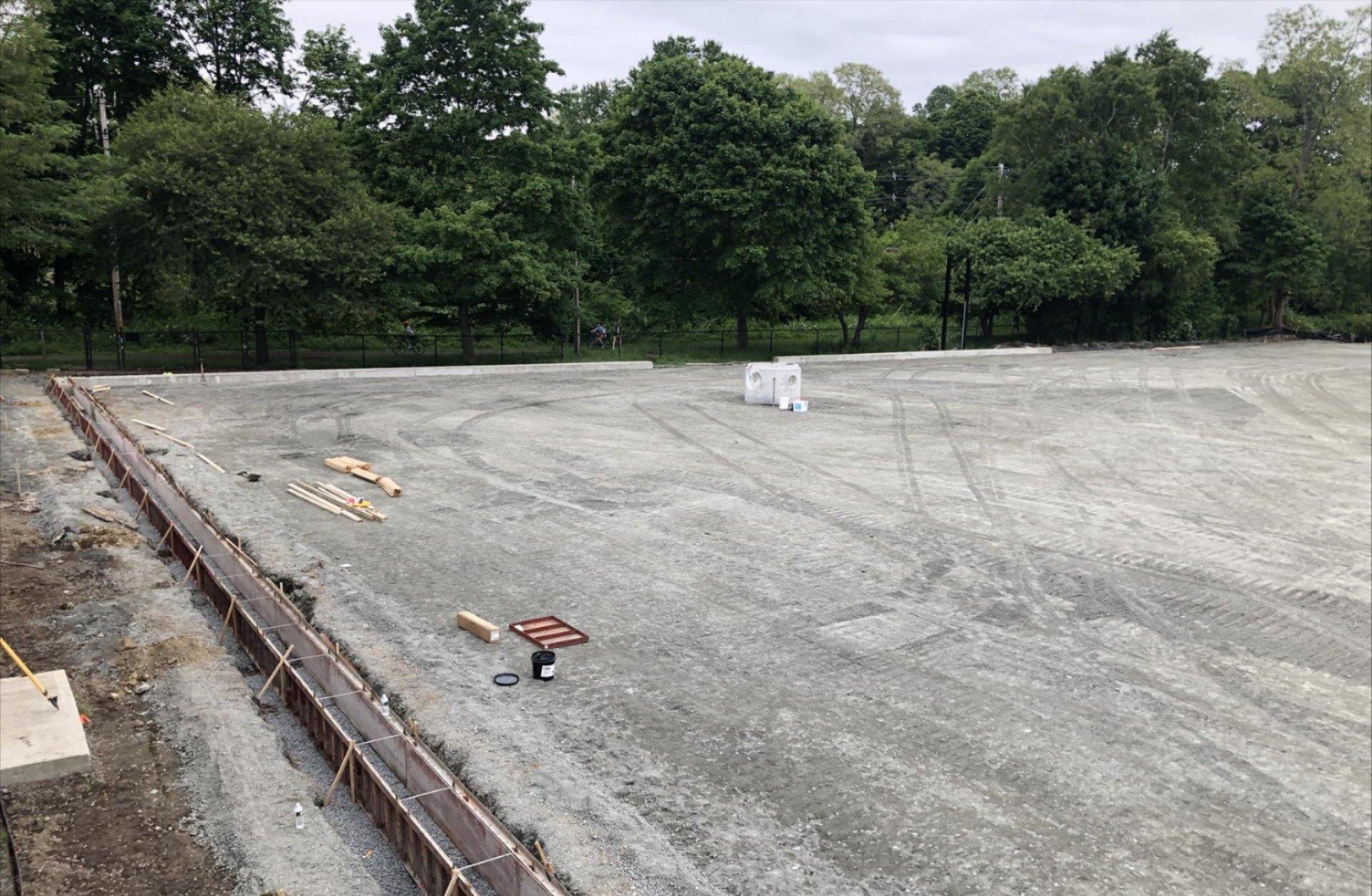 View of the turf field perimeter June 19, 2019