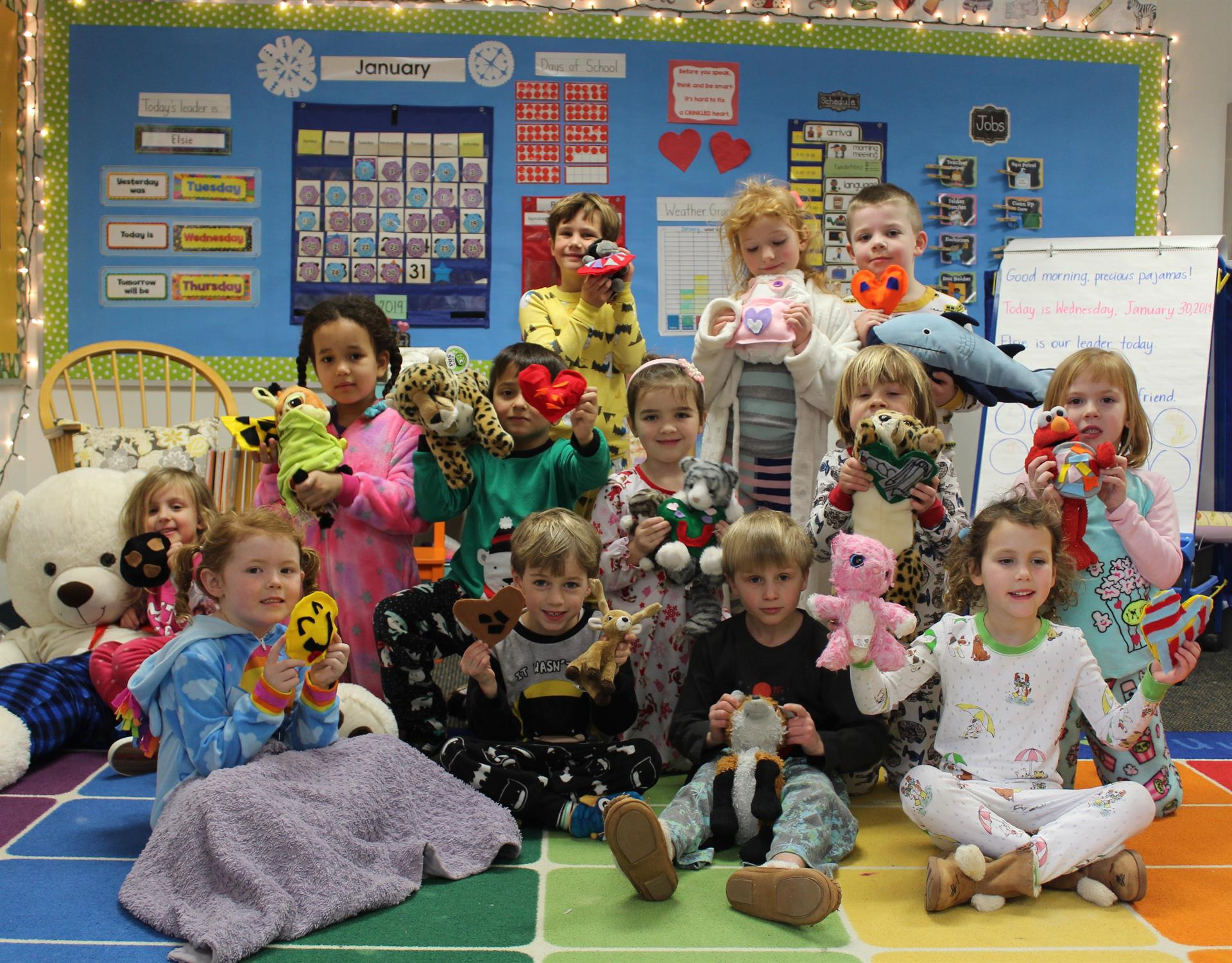 Pajama Day in Kindergarten