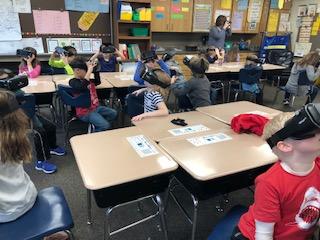 Mrs. Ahnert's first grade class on a Google expedition