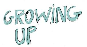 "Graphic showing a Light Green lettering stating ""Growing Up"""