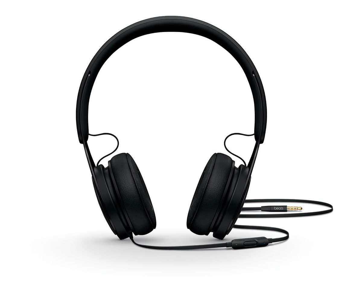 Image of black headphones used in a computer or other electronic device.