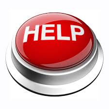 "Graphic of a push button in red with the word ""Help"" in white"