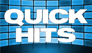 "Graphic of the Words ""Quick Hits"" with light and dark blue squares in the background."