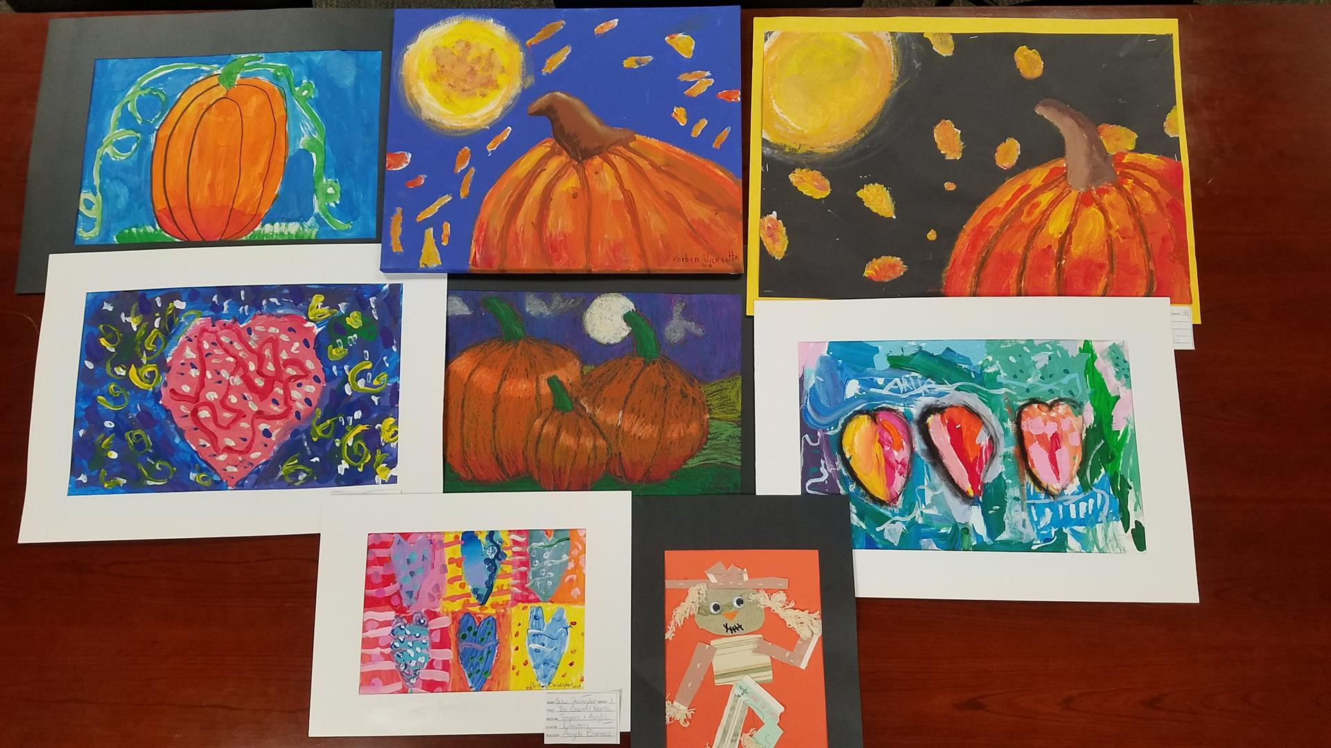 Artwork from students at Dayton.