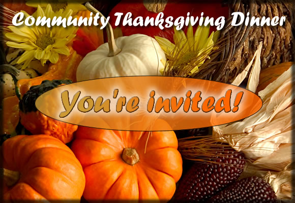 community thanksgiving meal invite