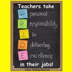 Teacher pride saying