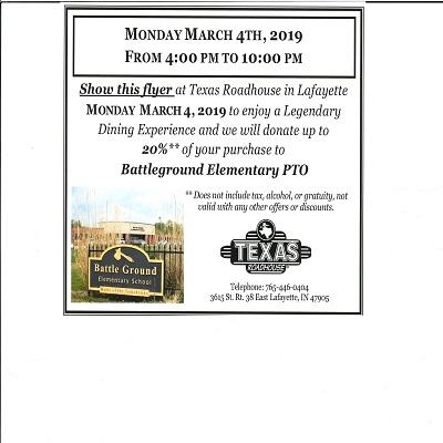 Texas Roadhouse Dine for Dollars flyer