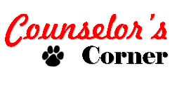 Counselor's corner with paw print