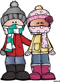 Two children bundled up for winter