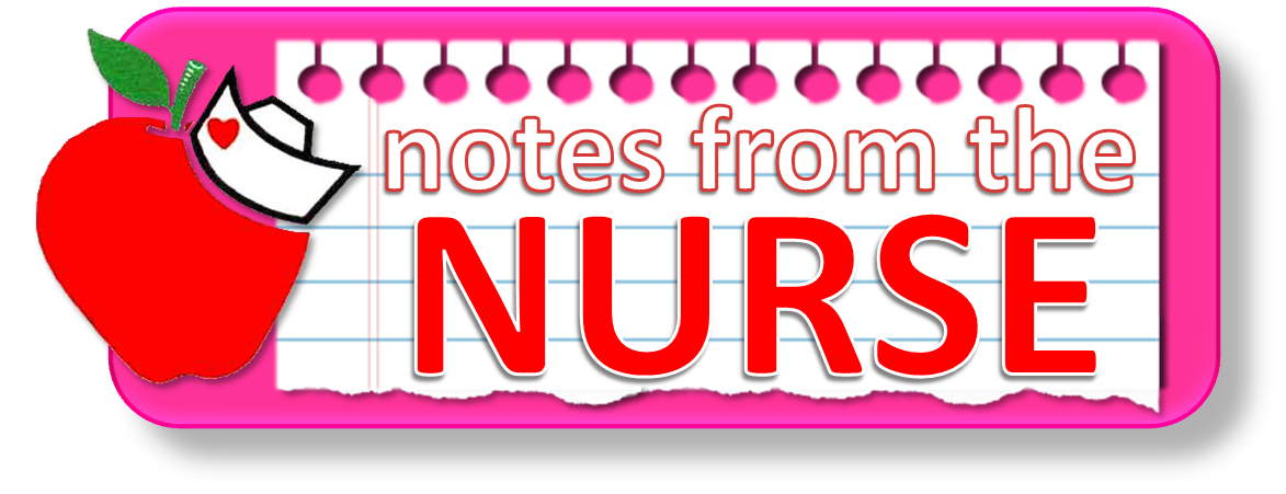 notes from the nurse with apple and nurse hat