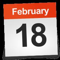 February 18 Calendar