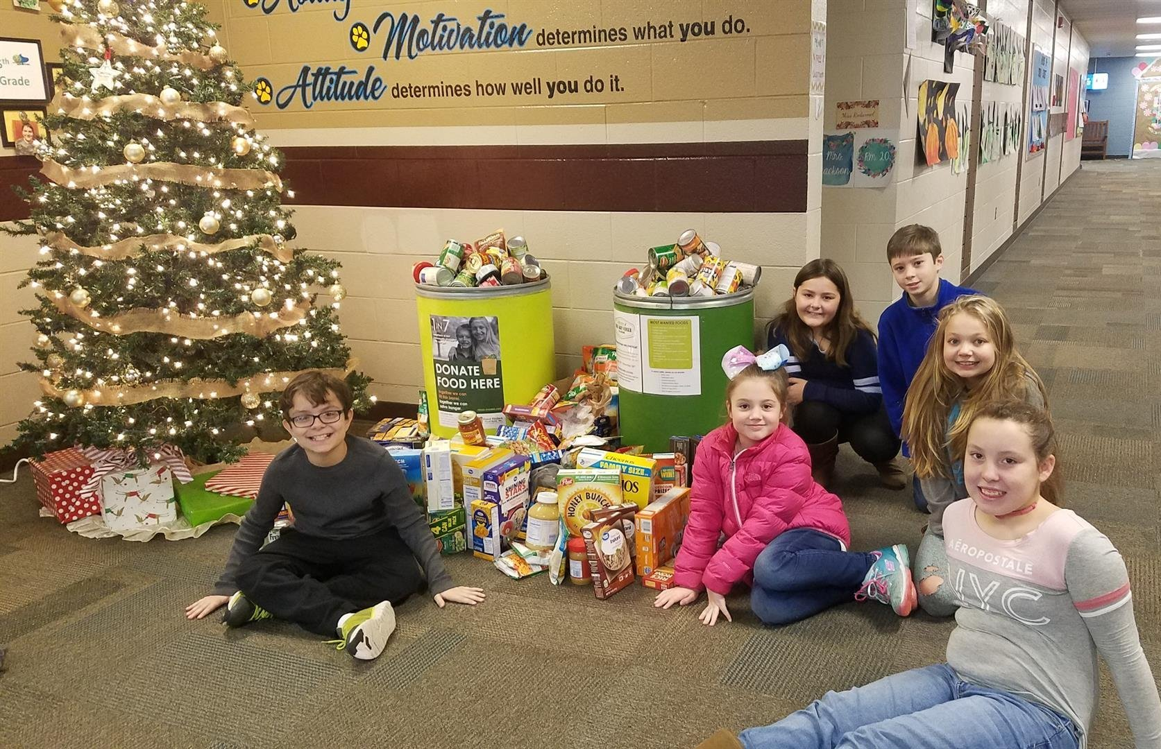 Items collected for food finders