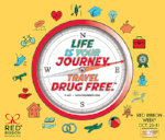 Life is Your Journey. Travel Drug Free Compass.
