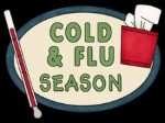 Cold & Flu Season with Thermometer and Tissues