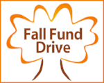 Fall Fund Drive in a leaf outline