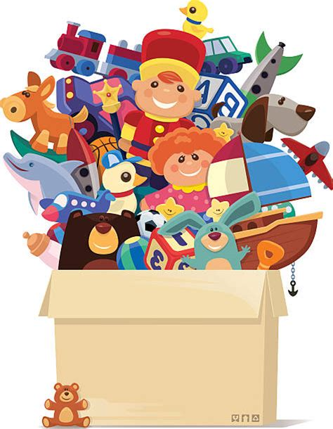 box of toys clip art for A.R. store