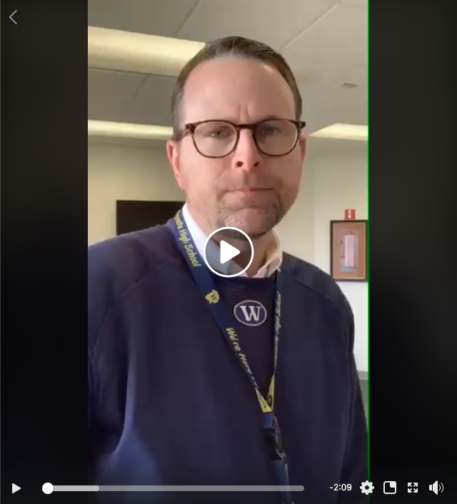 A message to the Class of 2020 from Principal Gengler