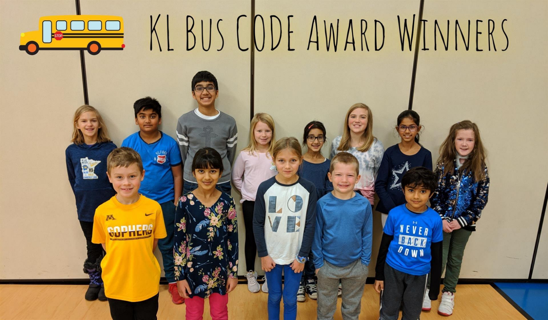 KL Bus C.O.D.E. Award Winners