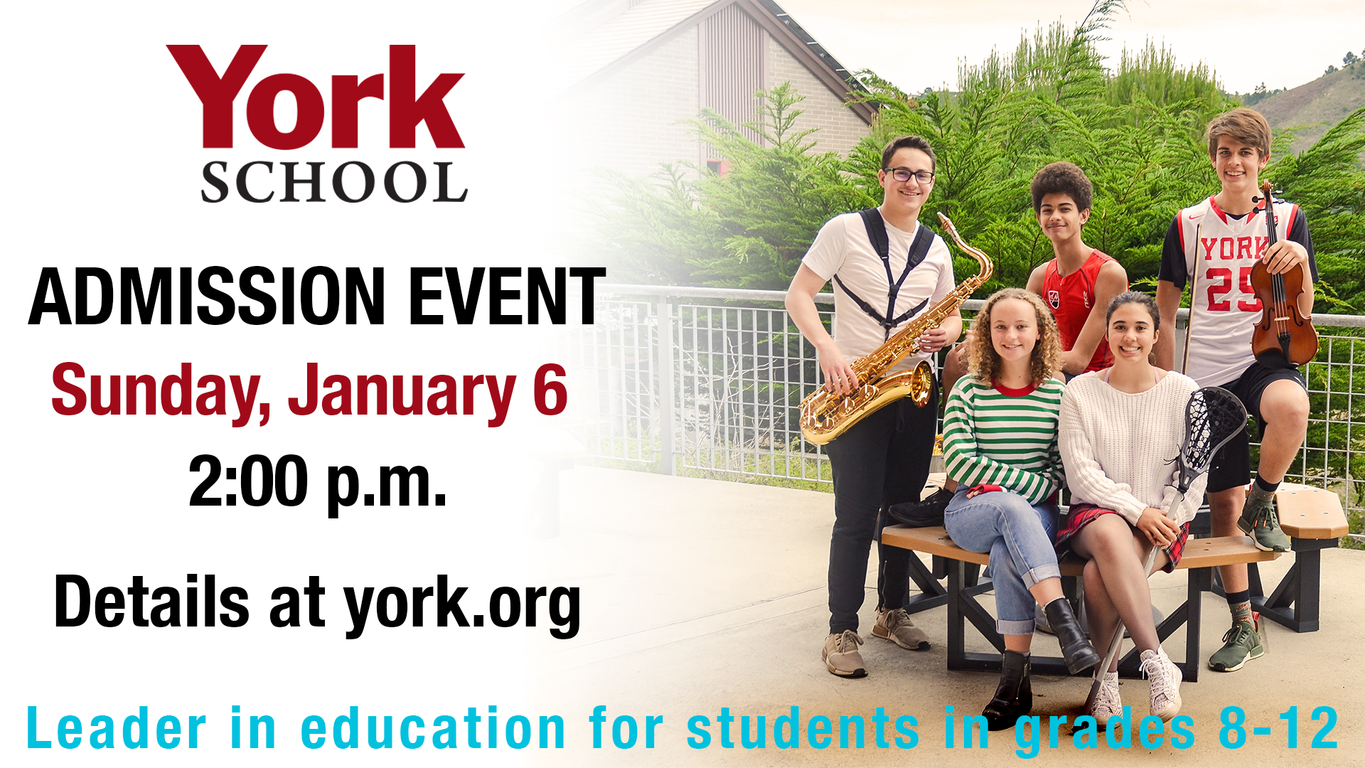 York School Admission Event Photo January 6 2:00 pm