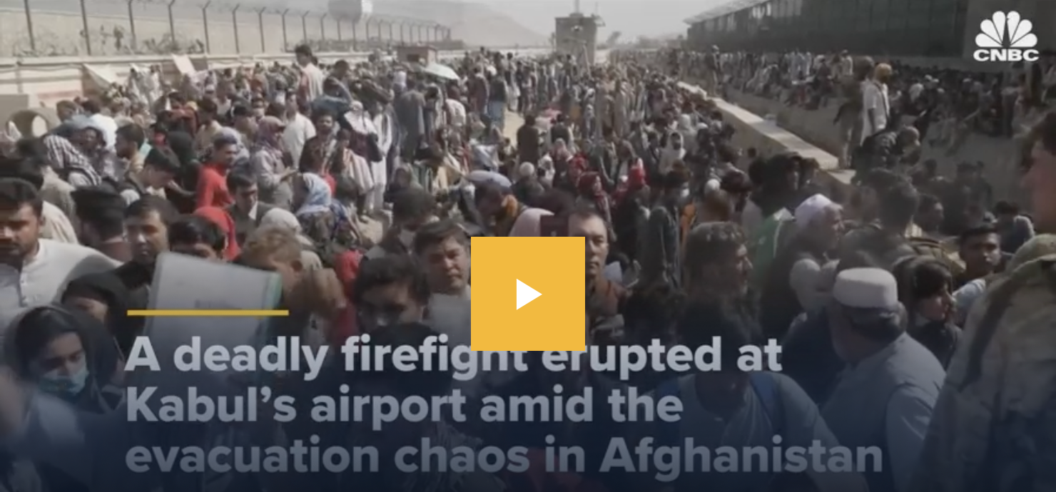 What do we know about the firefight that erupted at the Kabul airport?