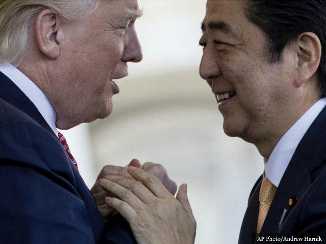 President Trump with Japanese Prime Minister Shinzo Abe